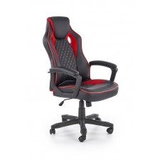 Кресло компьютерное Halmar BAFFIN (черный/красный)