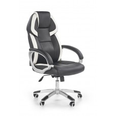 Кресло компьютерное Halmar BARTON (черный/белый)