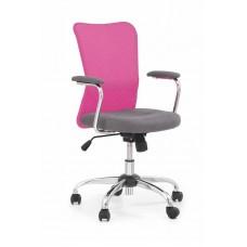 Кресло компьютерное Halmar ANDY (серый/розовый)