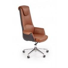 Кресло компьютерное Halmar CALVANO (светло-коричневый/темно-коричневый)
